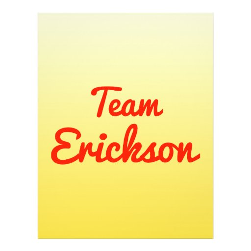 Team Erickson Flyer Design