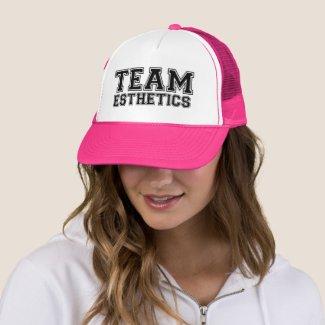 Team esthetics trucker hat