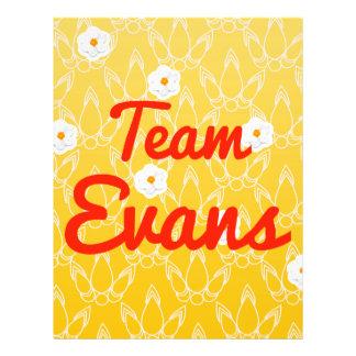 Team Evans Flyer Design