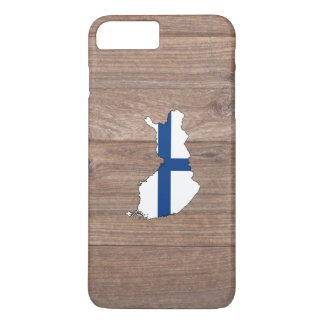 Team Finland Flag Map on Wood iPhone 7 Plus Case