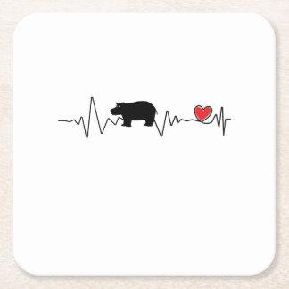 Team Fiona Baby Hippo  Love Hippopotamus Square Paper Coaster