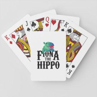 Team Fiona The Hippo Love Hippopotamuss Playing Cards