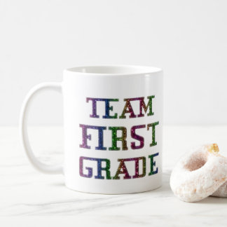 Team First Grade Back To School Novelty Coffee Mug