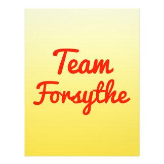 Team Forsythe Flyer Design