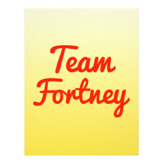 Team Fortney Personalized Flyer