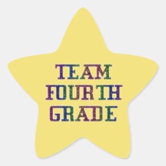Team Fourth Grade, Novelty School Yellow Stickers