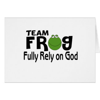 Team Frog (Fully Rely On God) Card