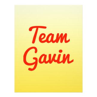 Team Gavin Personalized Flyer