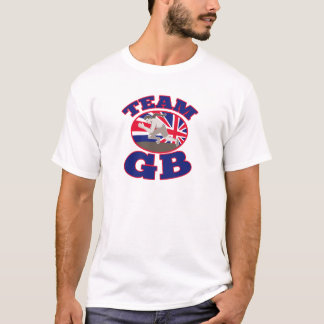 team gb great britain runner track and field T-Shirt