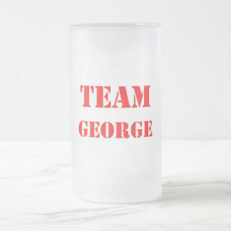 Team George Frosted Glass Beer Mug