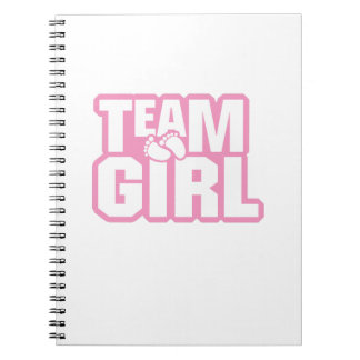 Team Girl Baby Shower Gender Reveal Funny Pregnant Notebook