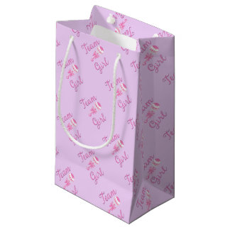 Team Girl Gender Reveal Gift Bag