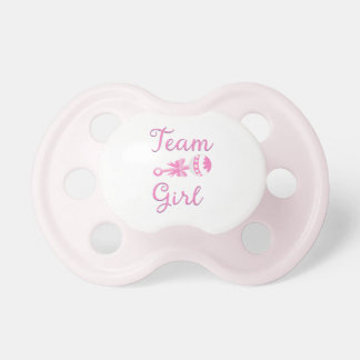 Team Girl with Rattle Pacifier