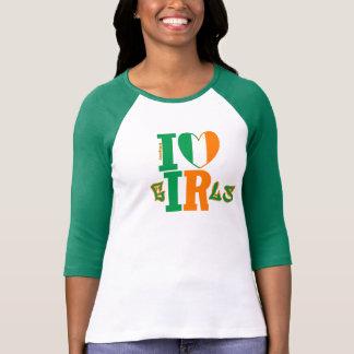 Team Green be She - I ❤ Irish Girls T-Shirt