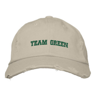 TEAM GREEN EMBROIDERED HAT