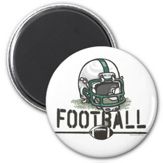 Team Green Football Gear Magnet