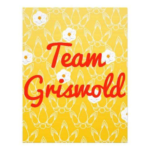 Team Griswold Flyer Design