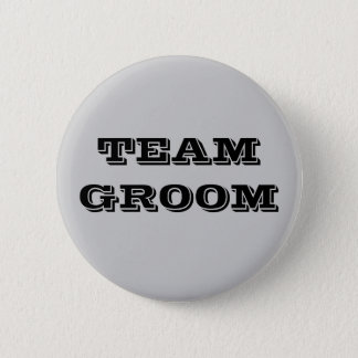 Team Groom 2 Inch Round Button