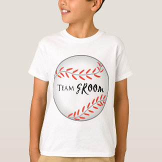 Team Groom Baseball T-shirts