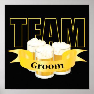 Team Groom - Beer Print