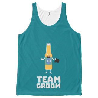 Team Groom Beerbottle Zu77s All-Over-Print Tank Top