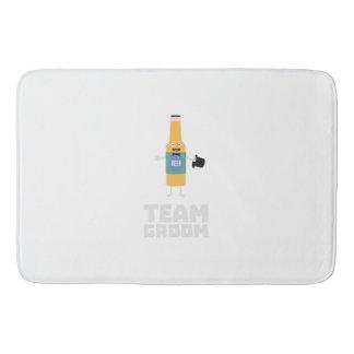 Team Groom Beerbottle Zu77s Bath Mat