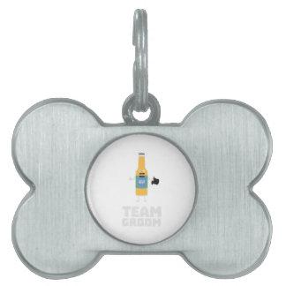 Team Groom Beerbottle Zu77s Pet Name Tag