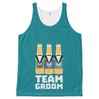 Team Groom Beerbottles Zqf18 All-Over-Print Tank Top