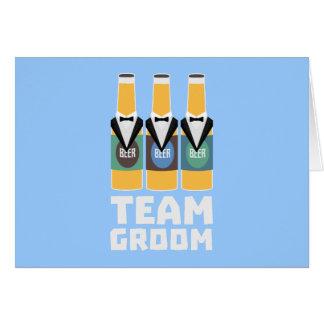 Team Groom Beerbottles Zqf18 Card