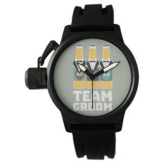 Team Groom Beerbottles Zqf18 Wrist Watch