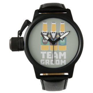 Team Groom Beerbottles Zqf18 Wristwatches