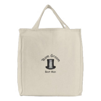 Team Groom - Best Man Embroidered Tote Bags