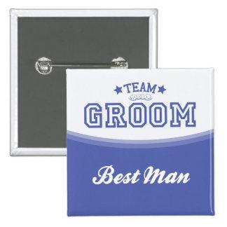 Team Groom-Best Man (Stars) Button