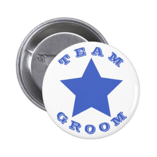TEAM GROOM | Big Navy Blue Star Button
