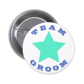 TEAM GROOM | Big Teal Star Button