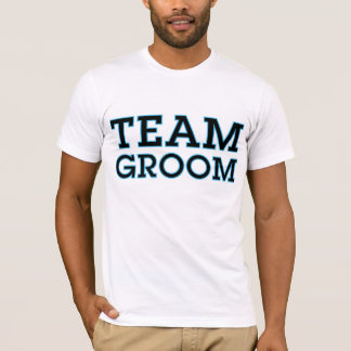 Team Groom Blue Outline T-Shirt