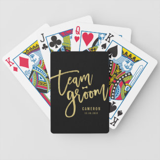 Team Groom Bow Tie Bachelor Party Wedding Custom Bicycle Playing Cards