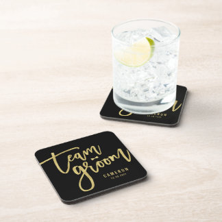 Team Groom Bow Tie Bachelor Party Wedding Custom Coaster