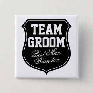 Team Groom buttons | Personalize for wedding party