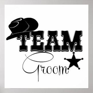 Team Groom - cowboy Poster