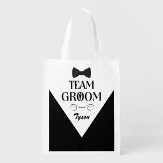 Team Groom - Custom Groomsmen Gift Bags Reusable Grocery Bag