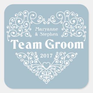 Team Groom custom names & year wedding stickers