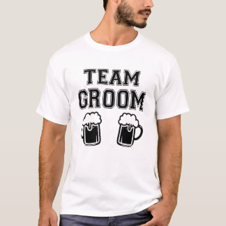 Team Groom funny Groomsman funny bachelor party T-Shirt