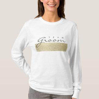 TEAM GROOM GLAMOROUS GOLD WHITE MOSAIC DOTS T-Shirt