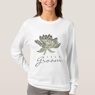 TEAM GROOM GLAMOROUS SILVER LOTUS FLORAL T-Shirt