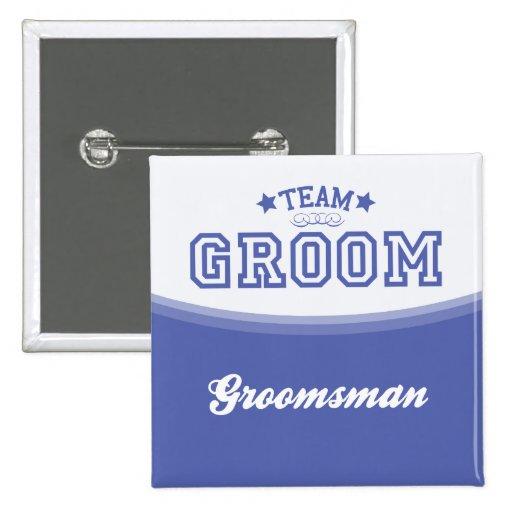 Team Groom-Groomsman (Stars) Button