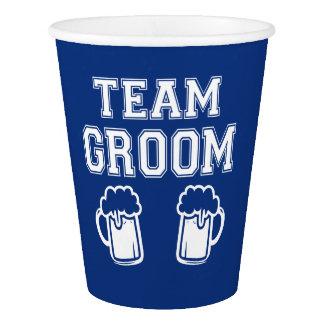 Team Groom Groomsmen beer cups