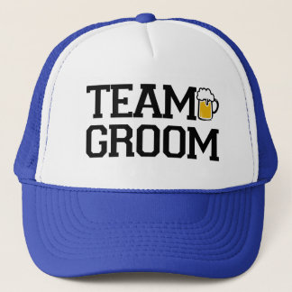 Team Groom Groomsmen beer funny hat