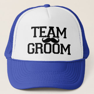Team Groom Groomsmen mustache hat