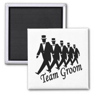 Team Groom Groomsmen Square Magnet